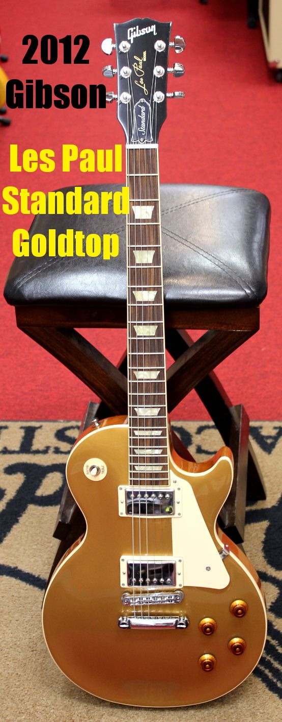 2012 Gibson USA Les Paul Standard Goldtop Electric Guitar For Sale in Watertown, NY $1995.00