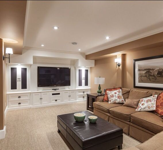 15 Awesome Basement Home Theater Cinema Room Ideas: 25+ Best Ideas About Basement Tv Rooms On Pinterest