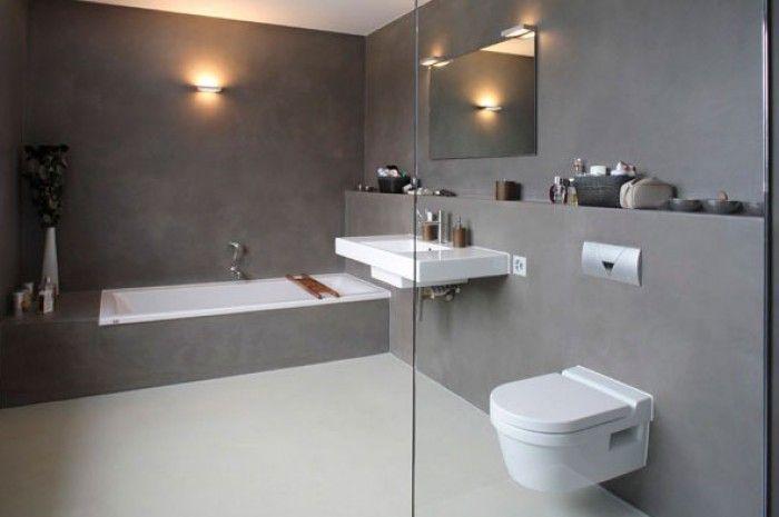 25 beste idee n over lichtgrijze slaapkamers op pinterest grijze slaapkamer kleuren grijze - Badkamer beton wax ...