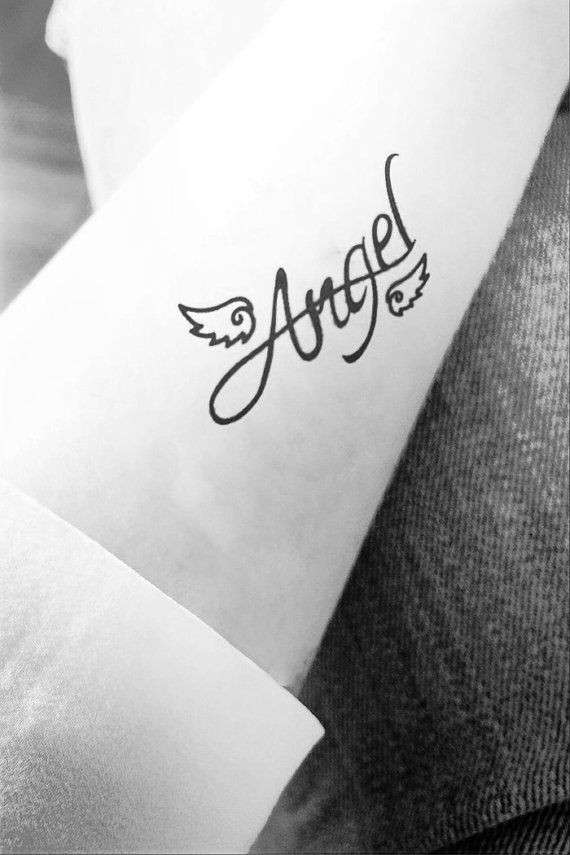 2pcs Angel Wing tattoo - InknArt Temporary Tattoo - quote tattoo wrist sticker fake tattoo tiny bird love on Etsy, $3.99