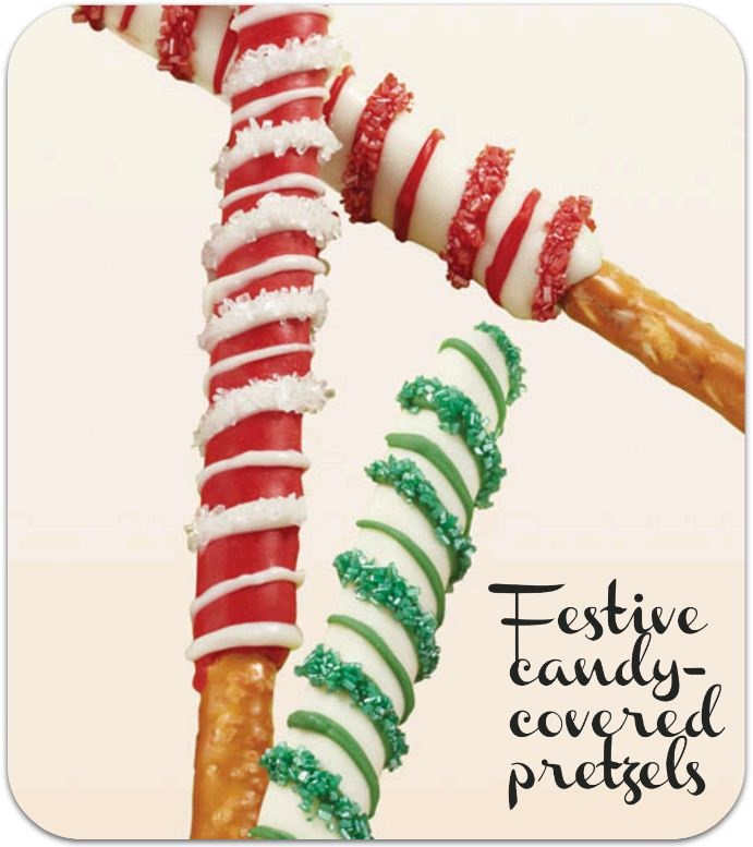 Love these candy-covered pretzels! From @Wilton Cake Decorating wiltonchristmas shareyourcreativity