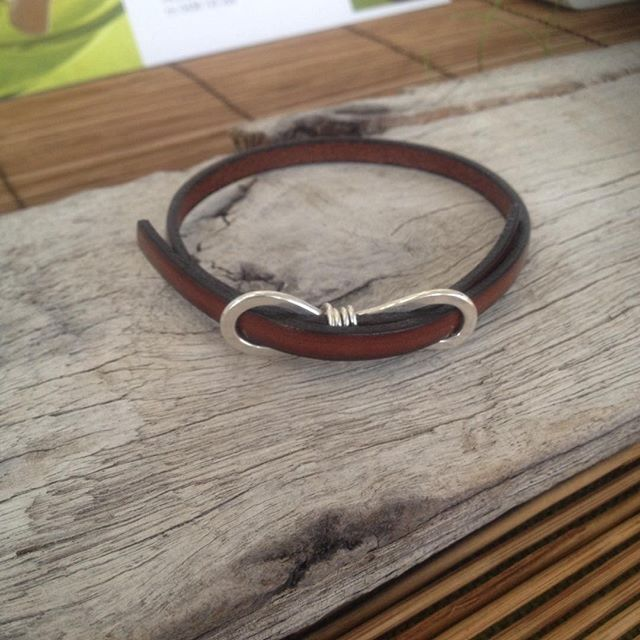 The gorgeous new Siri bracelet - not yet online but already available from my markets and from @poppiwilliams in Melbourne. #silverjewellery #leatherbracelet #leatherandsilver #handmade #sustainable #recycledsilver