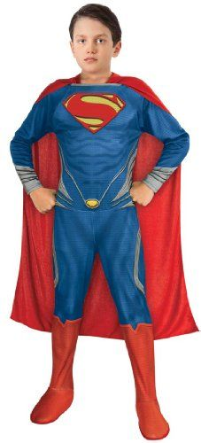 Man of Steel Superman Childrens Costume Small @ niftywarehouse.com #NiftyWarehouse #Superman #DC #Comics #ComicBooks
