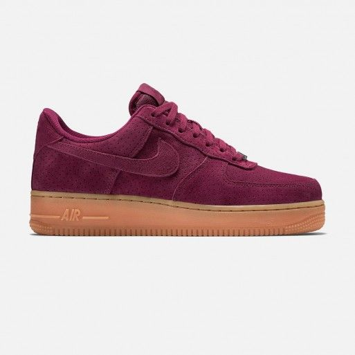 Nike Air Force 1 '07 Suede (Deep Garnet/Gum Medium Brown-Metallic