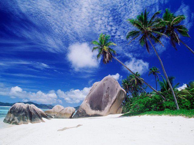 Tapeta White Sandy Beach - Seychelles - Wallpaper White Sandy Beach - Seychelles