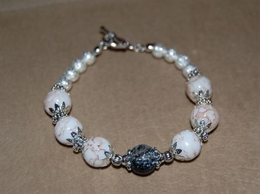 White Mottle Effect Bracelet
