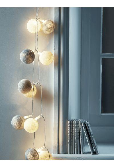 Cloud pompom string lights lighting