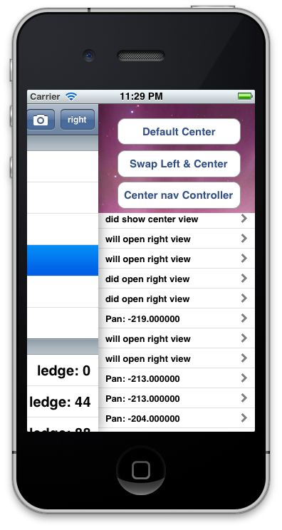 An implementation of the sliding functionality found in the Path 2.0 or Facebook iOS apps.