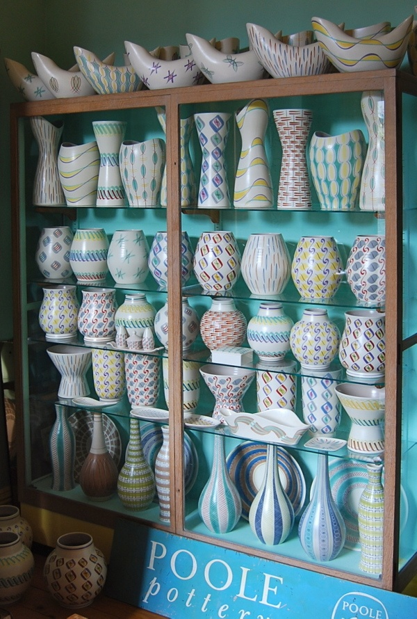 Part of Johns amazing collection of 1950's Poole Pottery
