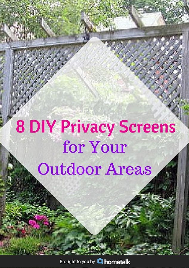 diy privacy screens for your outdoor areas decks upcycling and