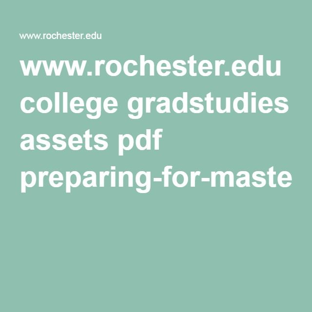 www rochester edu college gradstudies assets pdf preparing for masters thesis