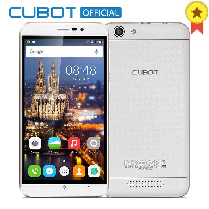 Dinosaurio MTK6735A Cubot Quad Core Android 6.0 Smartphone de 5.5 Pulgadas 4150 mAh Teléfono Celular 3 GB RAM 16 GB ROM abrió el Teléfono Móvil