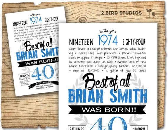 40th birthday invitation- Surprise 40th birthday invitation - DIY printable invitation for milestone birthday party - invite on Etsy, $20.00