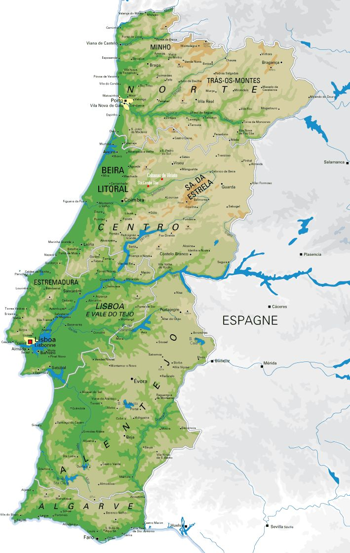 Carte du Portugal Portugal Map 146