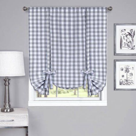 buffalo check tieup shade 42 inch x 63 inch gray
