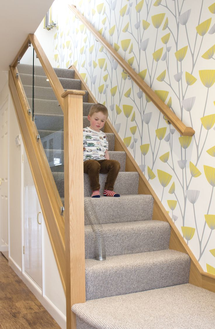 Bright hallway wallpaper   best Kitchen images on Pinterest  White cabinets White cupboards