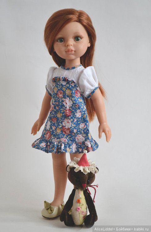 Платье для куколок от Паола Рейна / Одежда для кукол / Шопик. Продать купить куклу / Бэйбики. Куклы фото. Одежда для кукол