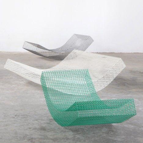 Muller van Severen designs rocking wire daybeds for Spanish summer house