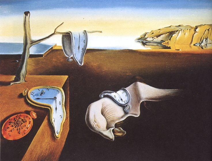 """The Persistence of Memory by Salvador Dali (1931) at Museum of Modern Art, NYC (MoMA) """"hand painted dream photographs"""""""