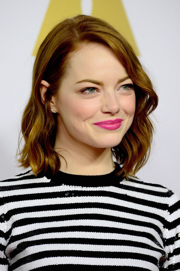 "A reporter told Emma Stone, ""You look beautiful, as always."" Stone said, ""Oh, thank you. That's all that matters."" 