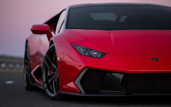Lamborghini Huracan, front view, sports coupe, sports car, tuning, Novara, Lamborghini