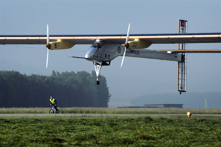 The Swiss sun-powered aircraft Solar Impulse takes off on its first attempted intercontinental flight from Switzerland to Morocco