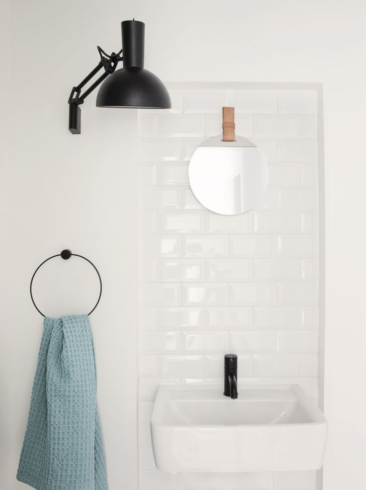 Towel hanger and Enyer mirror from ferm LIVING - http://www.fermliving.com/webshop/shop/news.aspx