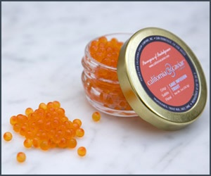 Sake Trout Roe - The delicate floral and fruitiness of sake infuses nicely with the crisp, fresh flavor of trout roe making this caviar a must for sushi.