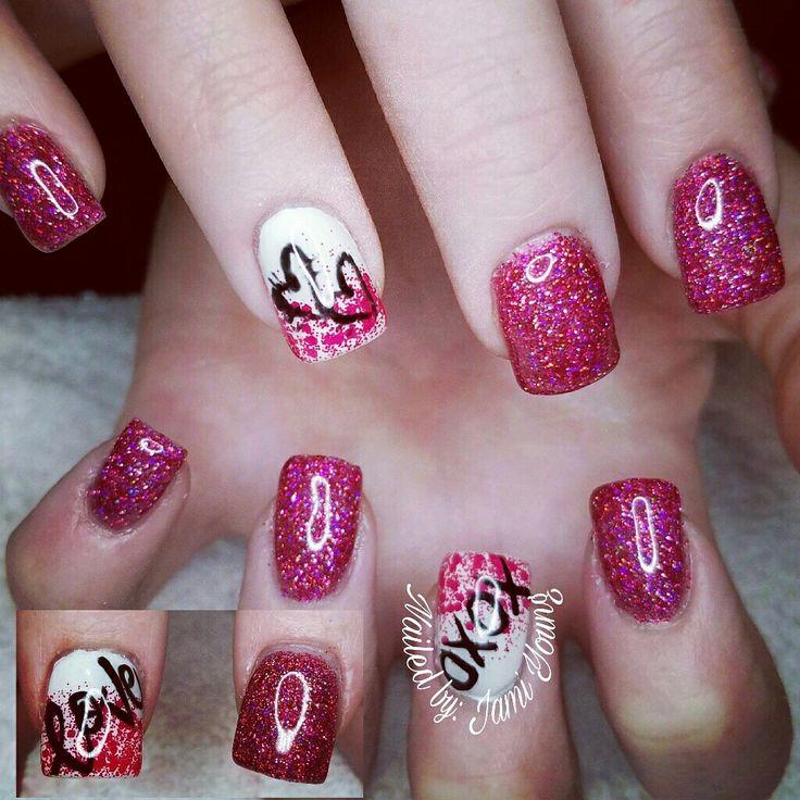Valentines Nails,  Gel Nails, Light Elegance