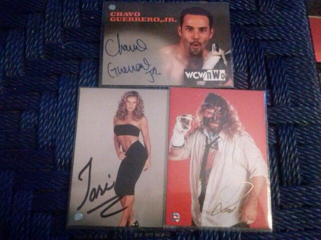 Wwf Wwe Wcw wrestling Autograph Trading Cards Tori, Mankind, Chavo Guerrero jr