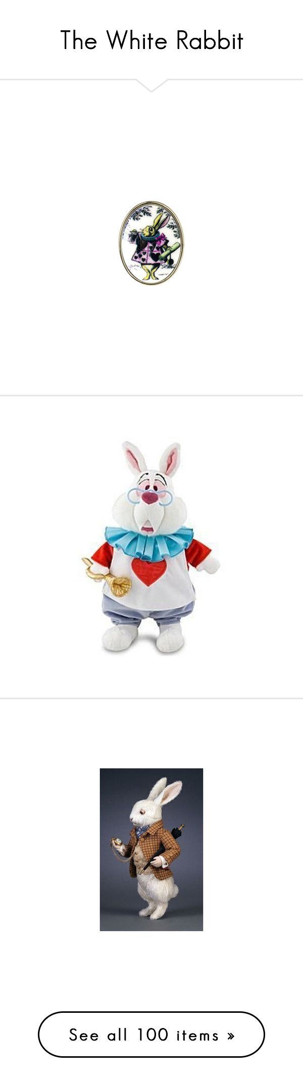 The White Rabbit by shannen-legere-lavigne on Polyvore featuring polyvore, fashion, jewelry, rings, alice in wonderland, accessories, tarina tarantino, tarina tarantino jewelry, tarina tarantino ring, clothing, costumes, masks, white rabbit halloween costume, white halloween costumes, rabbit halloween costume, rabbit costume, white costume, steam punk, extras, mask, wonderland, hats, beanie, animal beanie, rabbit fur hat, white rabbit hat, white hat, bunny hat, filler, random, animals…