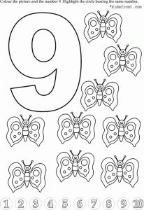 preschool number 9 worksheets (9)