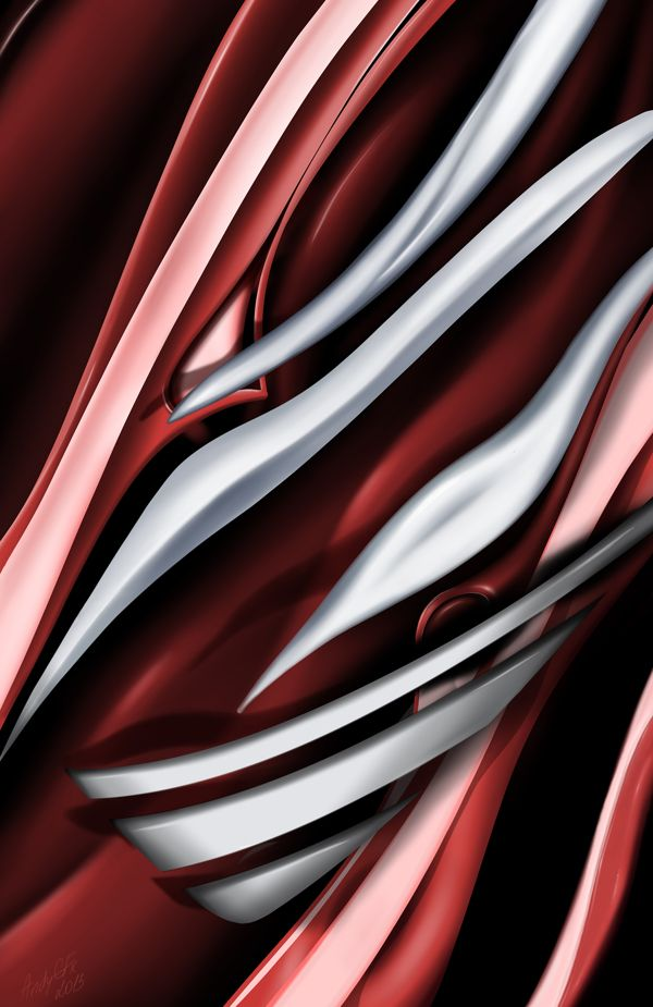 Red&White Sculptural Surface on Behance
