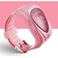 Детские часы телефон с GPS трекером и СИМ розовые (часофон)
