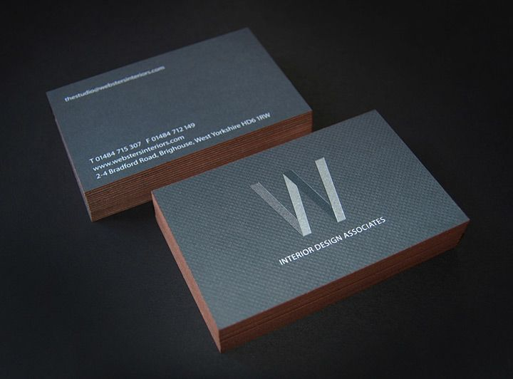 Business Cards Feature The Logo Printed On Front In 3 Spot Colours Clear Foil And Deboss Colorplan Gravure Emboss Reverse Is 1