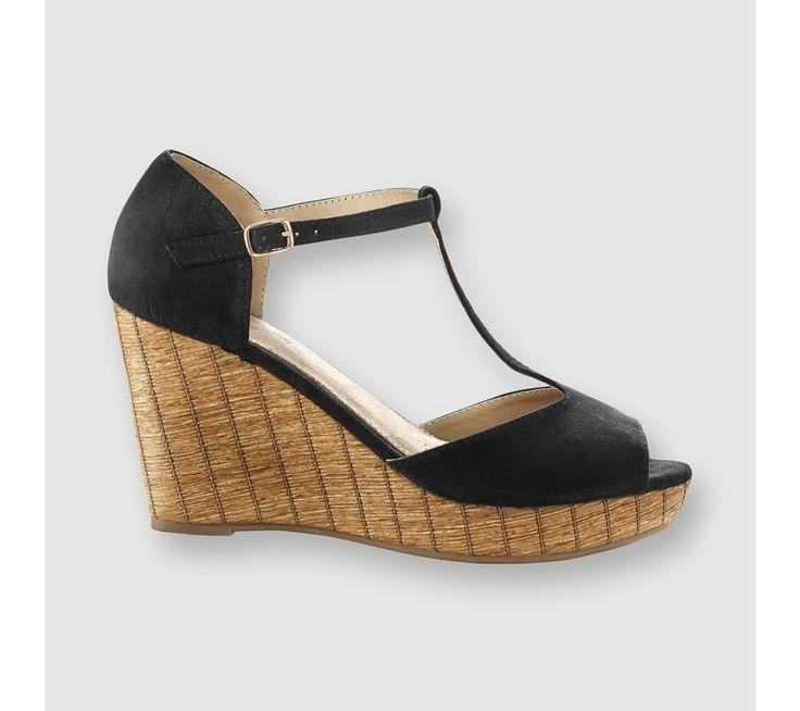 Páskové boty na klínovém podpatku | blancheporte.cz #blancheporte #blancheporteCZ #blancheporte_cz #shoes #boty #sandals