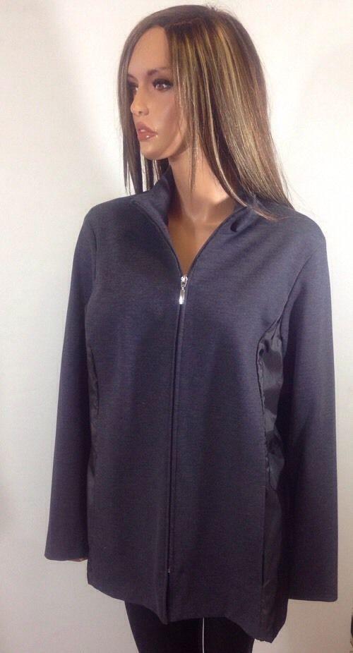 Marina Rinaldi Women's Blue Zip Up Jacket, Size MR 21 #MarinaRinaldi #FullZip #PlusSize