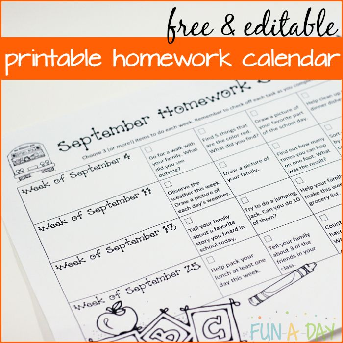 Making homework fun for kindergarten