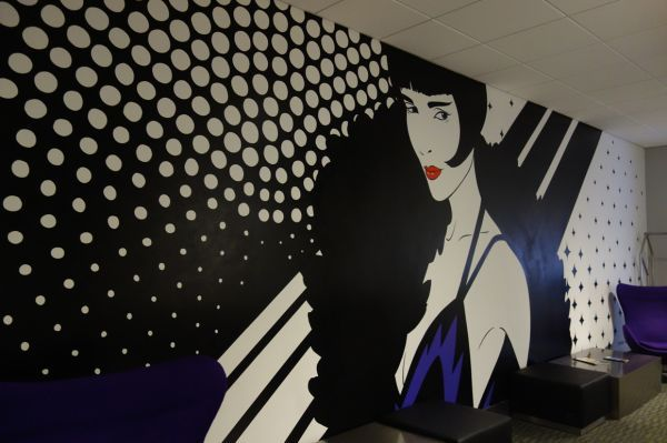 Diva By Amandalynn At Hotel Diva Colorful Murals Unique Wall Art Custom Wall Decor