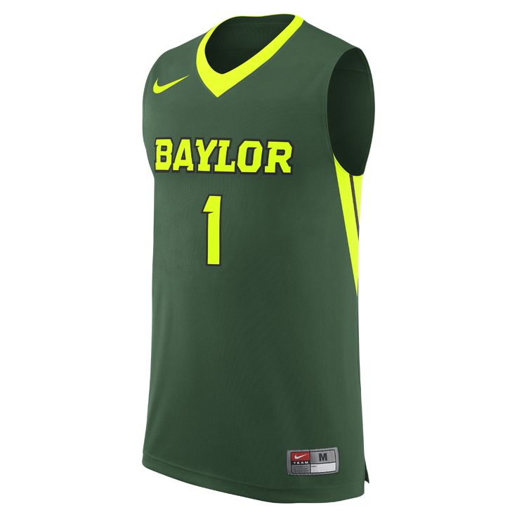 Nike College Replica (Baylor) Men's Basketball Jersey Size Large (Green) - Clearance Sale