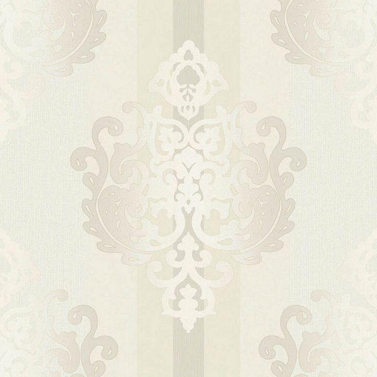 Rasch Tapete Deha 006420 Rasch Textil Vinyltapete Ornament cremeweiß glitzer in Heimwerker, Farben, Tapeten & Zubehör, Tapeten | eBay