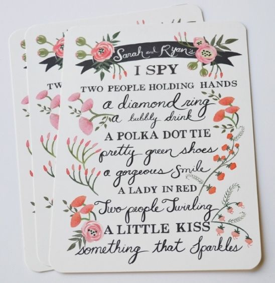 I Spy Wedding Card