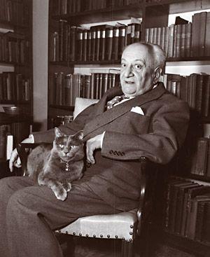 Американский писатель Людвиг Льюисон с котом