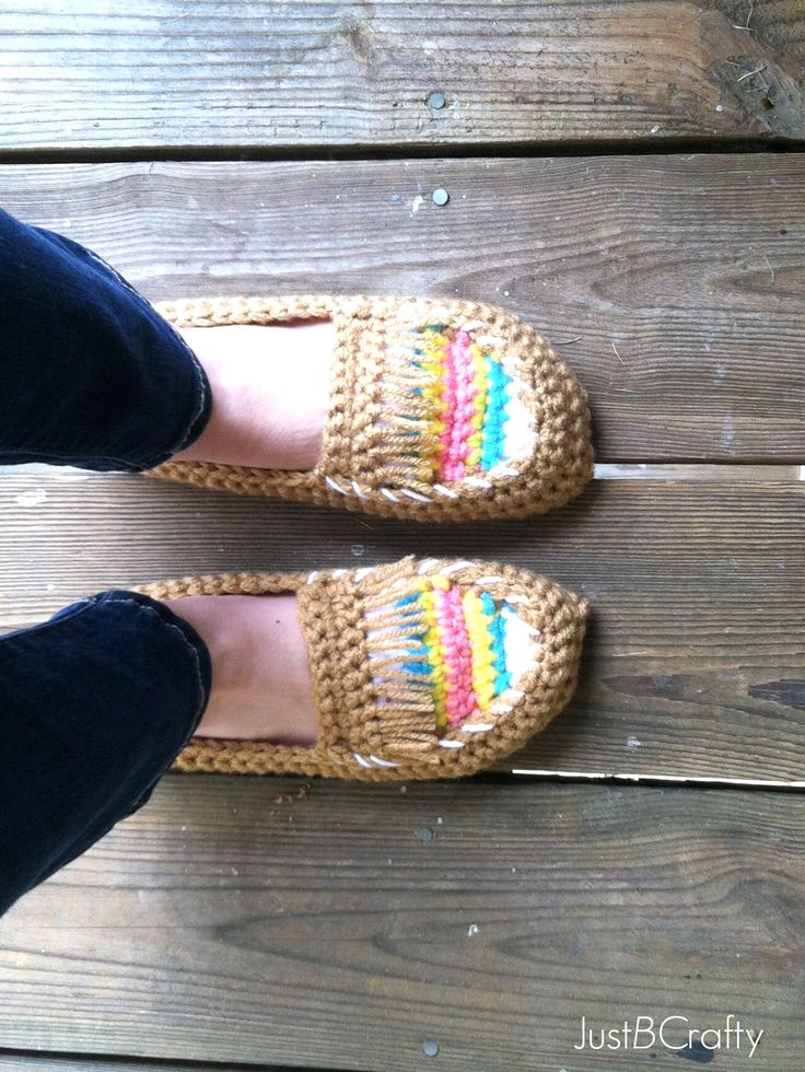 Crochet Tribal Moccasin Tutorial |Just B Crafty @Jeanette Lai Thomas Lai Thomas Mayes  this is your next project!!!!!!
