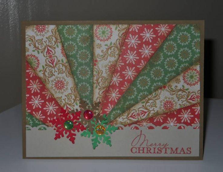 Christmas starburst card - beautiful!