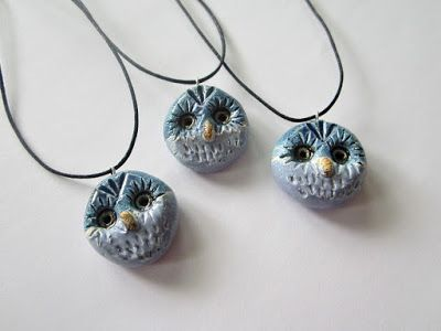 Ceramic Owls by pinterest.com/miiairene