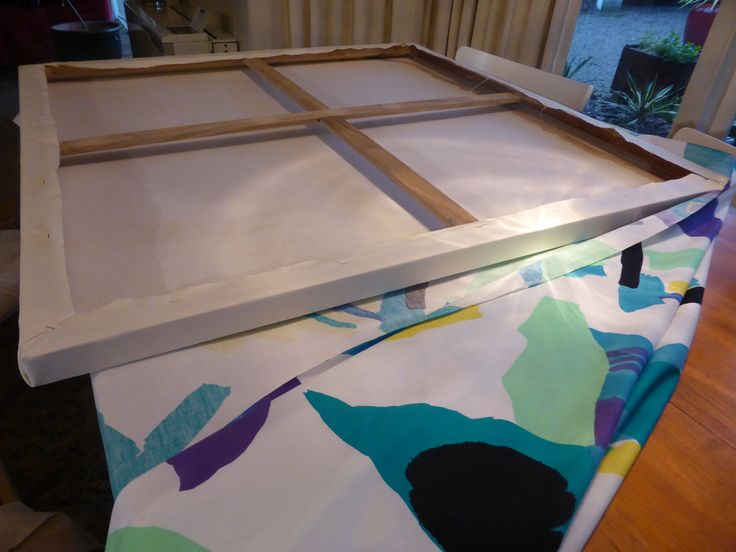 Reuse an old canvas to create cheap and vibrant artwork