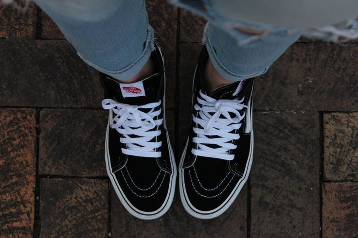 Love my Black High Top Vans ♥ One of my all time favorite casual pair of shoes to go with anything and everything!... - Street Fashion