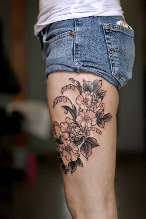 Tattoo Ideas Upper Thigh: 45 Best Thigh Tattoos Images On Pinterest
