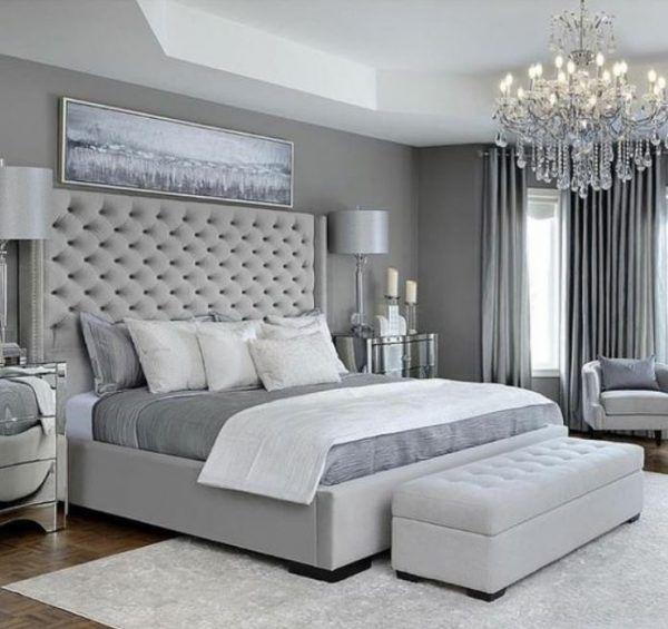 Amazing Grey Color For Bedroom Design De1 11 Amazing Bedroom Design With Gray Color Paint Luxurious Bedrooms Master Bedrooms Decor Bedroom Interior